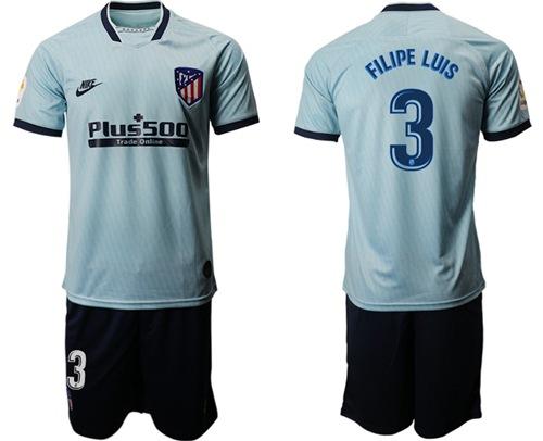 Atletico Madrid #3 Filipe Luis Third Soccer Club Jersey