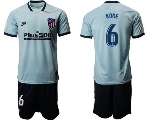 Atletico Madrid #6 Koke Third Soccer Club Jersey