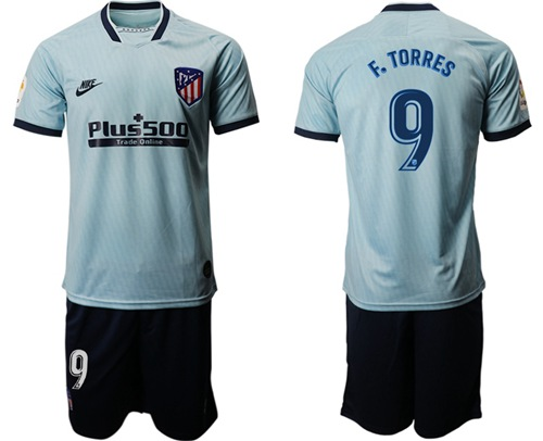 Atletico Madrid #9 F.Torres Third Soccer Club Jersey