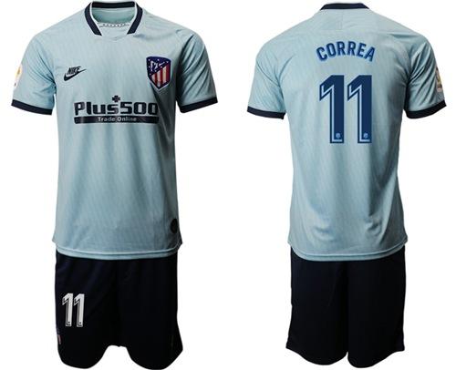Atletico Madrid #11 Correa Third Soccer Club Jersey