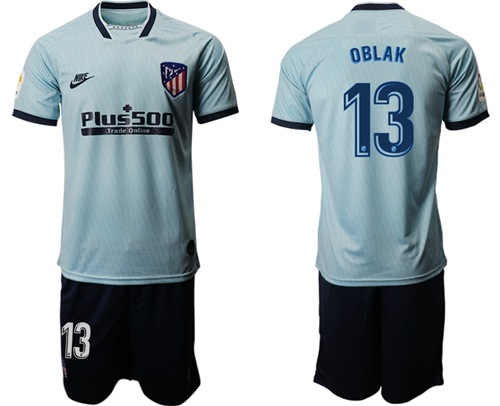 Atletico Madrid #13 Oblax Third Soccer Club Jersey