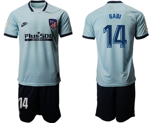 Atletico Madrid #14 Gabi Third Soccer Club Jersey