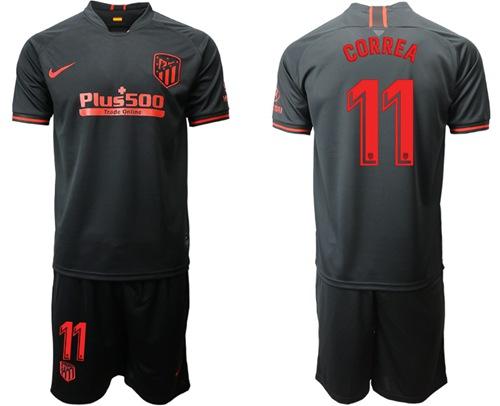 Atletico Madrid #11 Correa Away Soccer Club Jersey