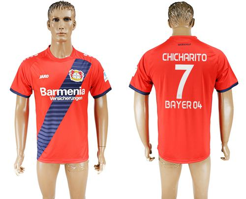 Bayer Leverkusen #7 Chicharito Away Soccer Club Jersey