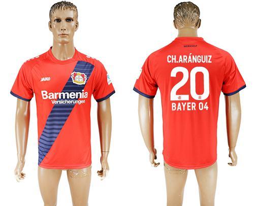 Bayer Leverkusen #20 Ch.Aranguiz Away Soccer Club Jersey