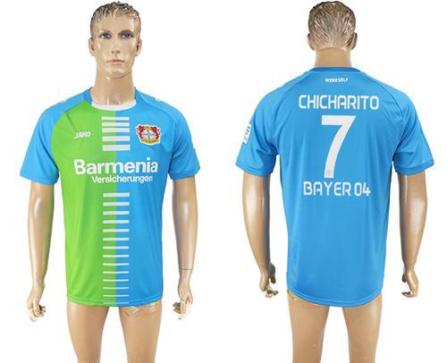 Bayer Leverkusen #7 Chicharito Sec Away Soccer Club Jersey