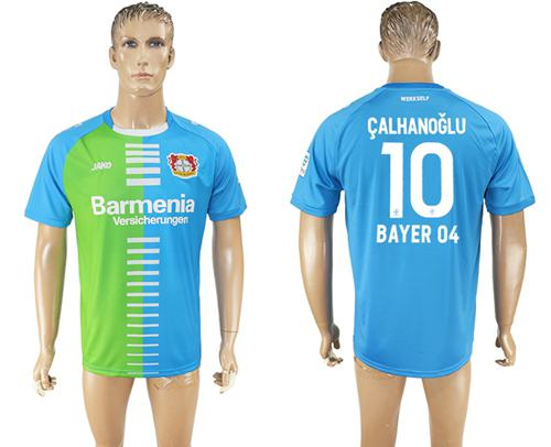 Bayer Leverkusen #10 Calhanoglu Sec Away Soccer Club Jersey