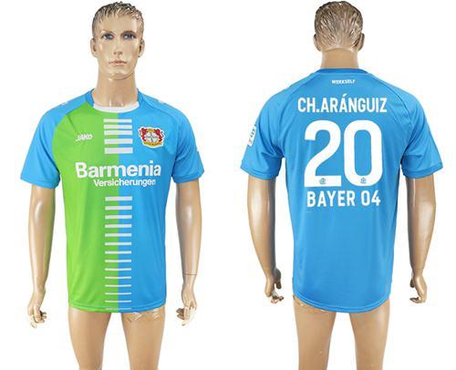 Bayer Leverkusen #20 Ch.Aranguiz Sec Away Soccer Club Jersey