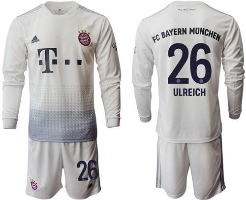 Bayern Munchen #26 Ulreich Away Long Sleeves Soccer Club Jersey