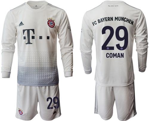 Bayern Munchen #29 Coman Away Long Sleeves Soccer Club Jersey