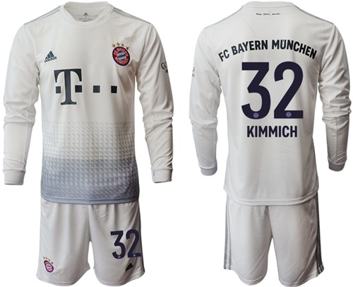 Bayern Munchen #32 Kimmich Away Long Sleeves Soccer Club Jersey