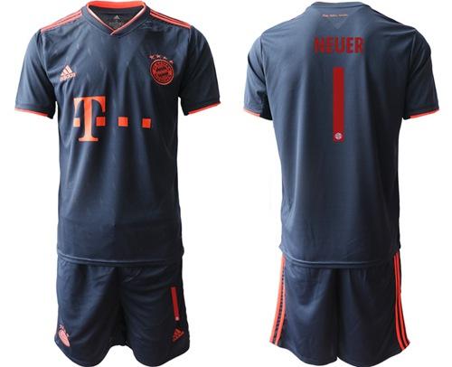 Bayern Munchen #1 Neuer Third Soccer Club Jersey