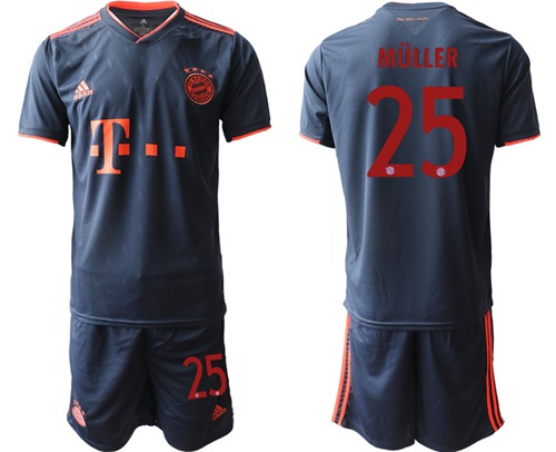Bayern Munchen #25 Muller Third Soccer Club Jersey