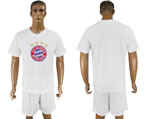 Bayern Munchen Blank White Soccer Club T-Shirt