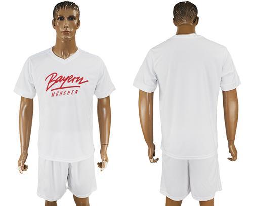 Bayern Munchen Blank White Soccer Club T-Shirt_1
