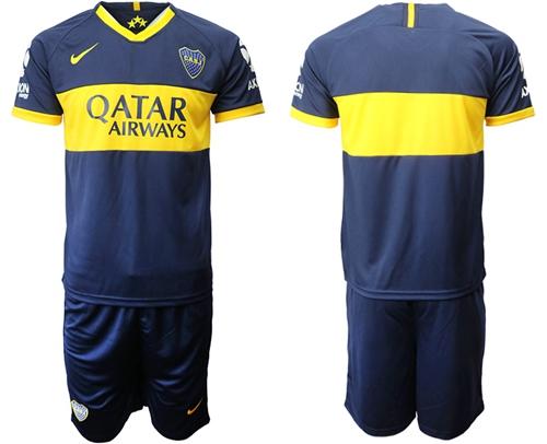 Boca Juniors Blank Home Soccer Club Jersey