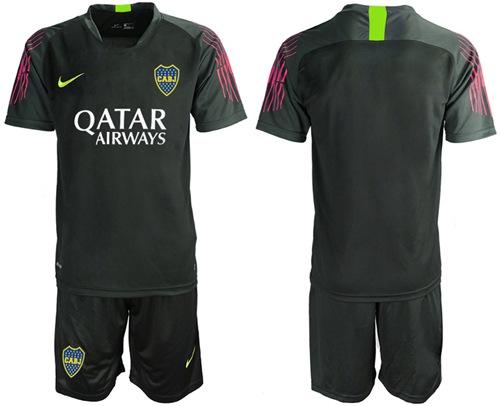 Boca Juniors Blank Black Goalkeeper Soccer Club Jersey