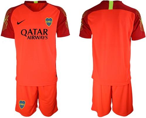Boca Juniors Blank Red Goalkeeper Soccer Club Jersey