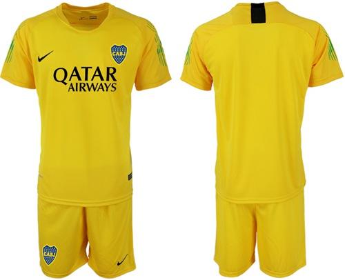 Boca Juniors Blank Yellow Goalkeeper Soccer Club Jersey