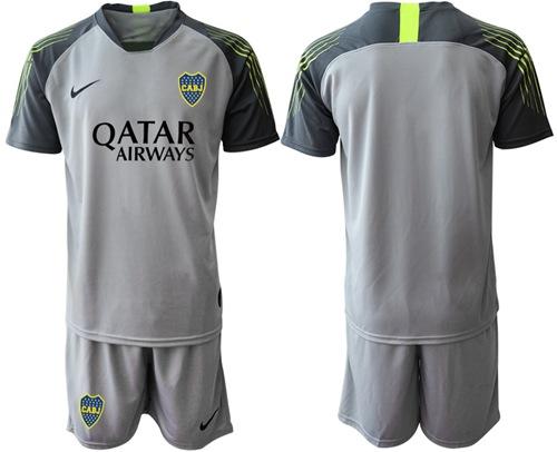 Boca Juniors Blank Grey Goalkeeper Soccer Club Jersey