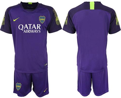 Boca Juniors Blank Purple Goalkeeper Soccer Club Jersey