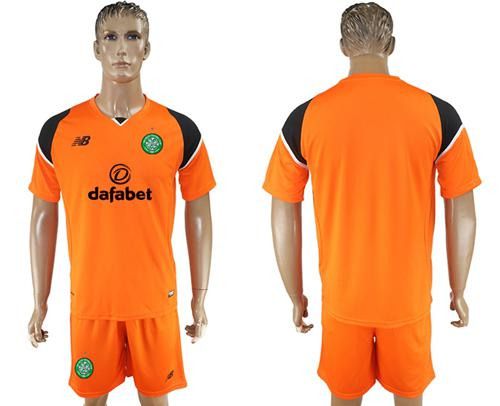 Celtic Blank Orange Goalkeeper Soccer Club Jersey