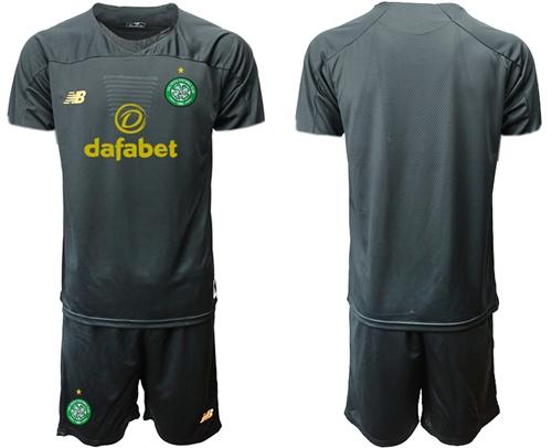 Celtic Blank Black Goalkeeper Soccer Club Jersey