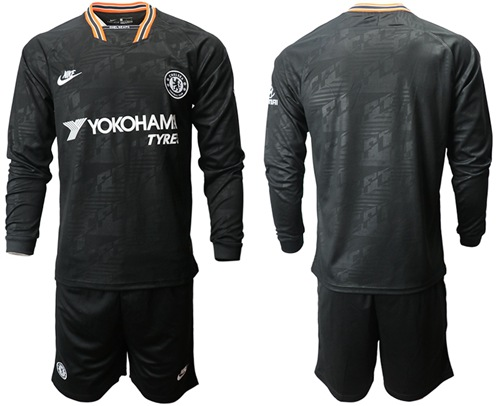 Chelsea Blank Third Long Sleeves Soccer Club Jersey