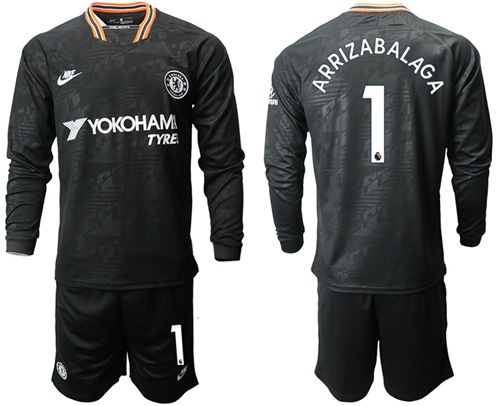 Chelsea #1 Arrizabalaga Third Long Sleeves Soccer Club Jersey