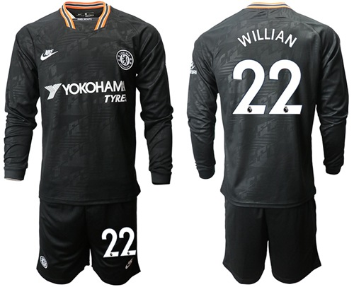 Chelsea #22 Willian Third Long Sleeves Soccer Club Jersey