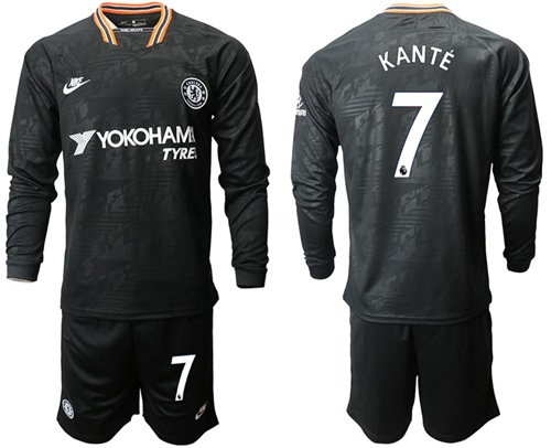 Chelsea #7 Kante Third Long Sleeves Soccer Club Jersey