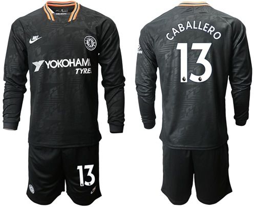 Chelsea #13 Caballero Third Long Sleeves Soccer Club Jersey