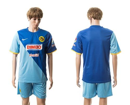 Club De Futbol America Blank Blue Away Soccer Club Jersey