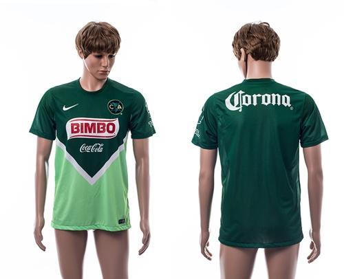 Club De Futbol America Blank Green Soccer Club Jersey