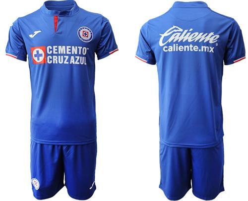 Cruz Azul Blank Blue Home Soccer Club Jersey