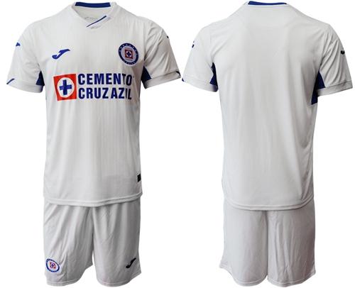 Cruz Azul Blank White Away Soccer Club Jersey