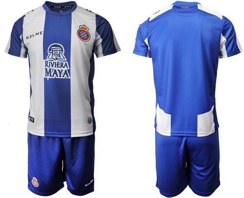 Espanyol Blank Home Soccer Club Jersey