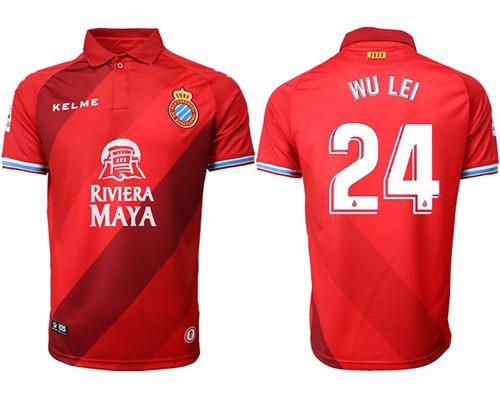 Espanyol #24 Wu Lei Away Soccer Club Jersey