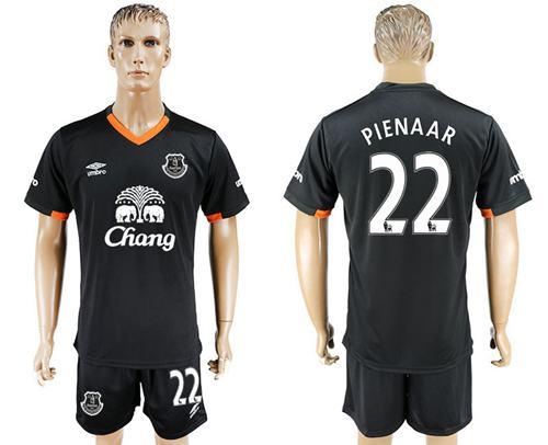 Everton #22 Pienaar Away Soccer Club Jersey