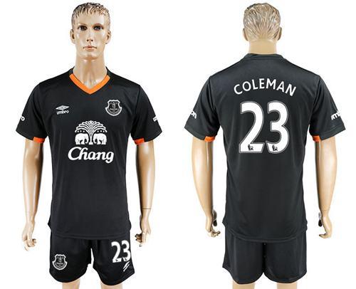 Everton #23 Coleman Away Soccer Club Jersey