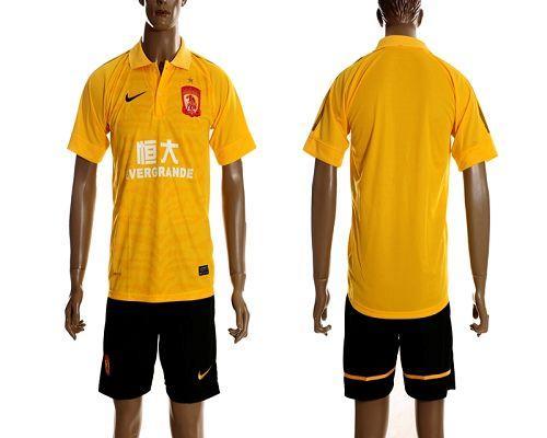 Guangzhou Evergrande Blank 2012/2013 Yellow Away Soccer Club Jersey