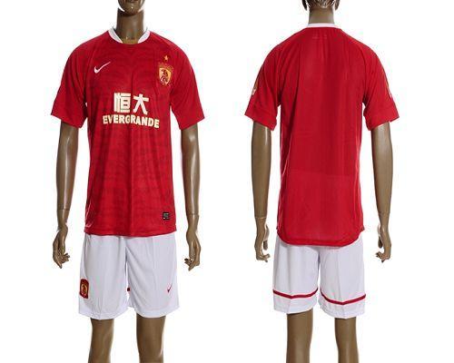 Guangzhou Evergrande Blank 2012/2013 Red Home Soccer Club Jersey
