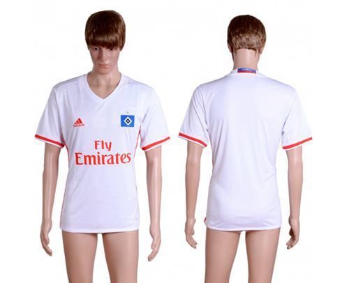 Hamburg Blank Home Soccer Club Jersey