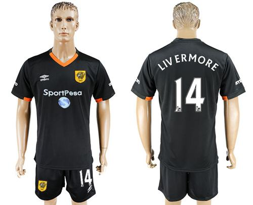 Hull City #14 Livermore Away Soccer Club Jersey
