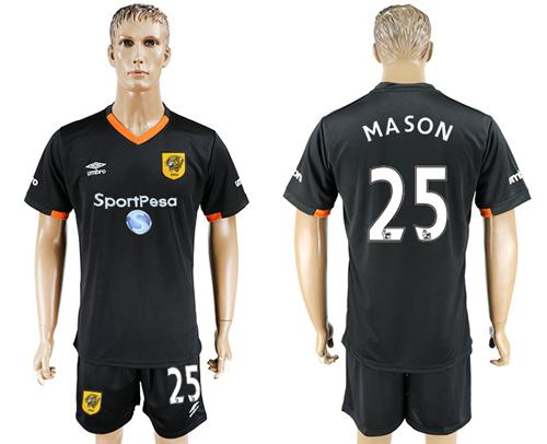 Hull City #25 Mason Away Soccer Club Jersey