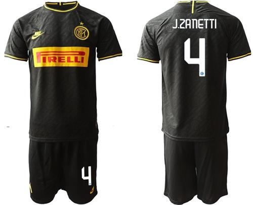 Inter Milan #4 J.Zanetti Third Soccer Club Jersey