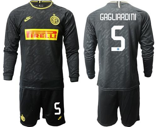 Inter Milan #5 Gagliardini Third Long Sleeves Soccer Club Jersey