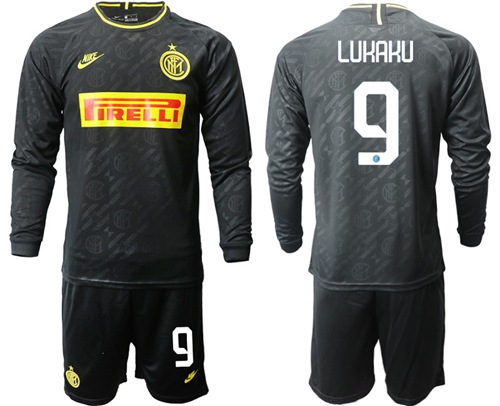 Inter Milan #9 Lukaku Third Long Sleeves Soccer Club Jersey