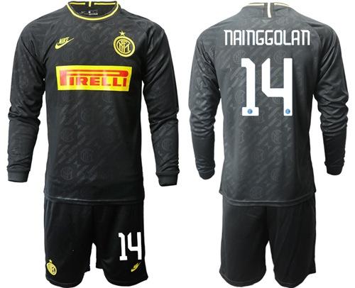 Inter Milan #14 Nainggolan Third Long Sleeves Soccer Club Jersey