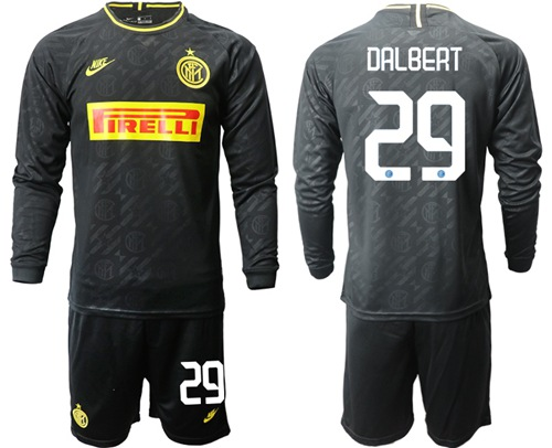 Inter Milan #29 Dalbert Third Long Sleeves Soccer Club Jersey